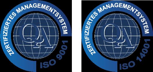 Zertifiziertes Qualitätsmanagement ISO 9001 + ISO 14001